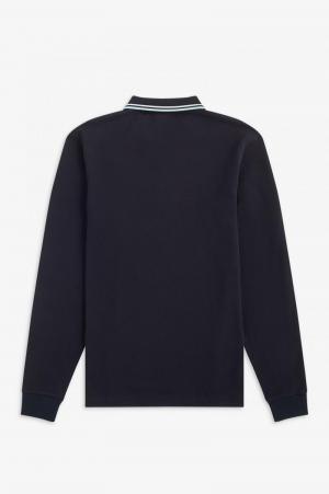 LS TWIN TIPPED SHIRT NAVY