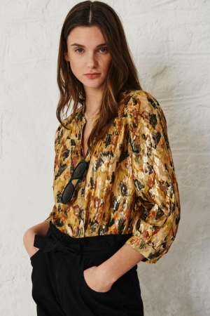 BLOUSE GABY OCRE