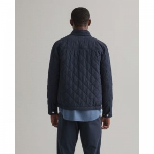 QUILTED WINDCHEATER EVENING BLUE