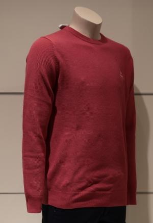 COTTON PIQUE CARDINAL RED