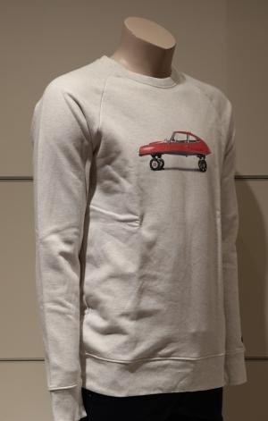 CAR SKATE RED CREAM H.GREY