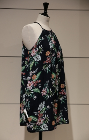 BEACH CAMI DRESS NAVY