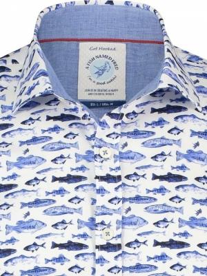 SHIRT SM FISHES BLUE